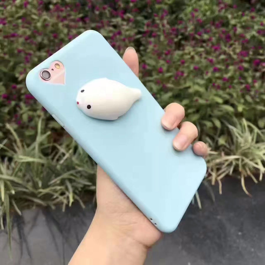 Cat Case For iPhone 7 6 6S Plus 5 5S SE Cases Lovely Cartoon Soft Cat Cases For iPhone 8 7 Plus 6 6s Knead Cover Coque