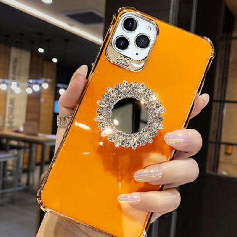 Rhinestone IPhone 11 Mobile Phone Case Tide Brand
