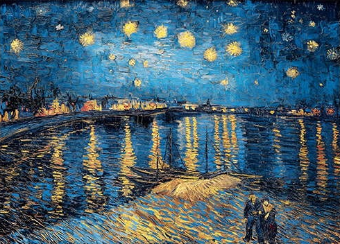 Starry Night Over The Rhone Oil Canvas Painting By Vincent Van Gogh