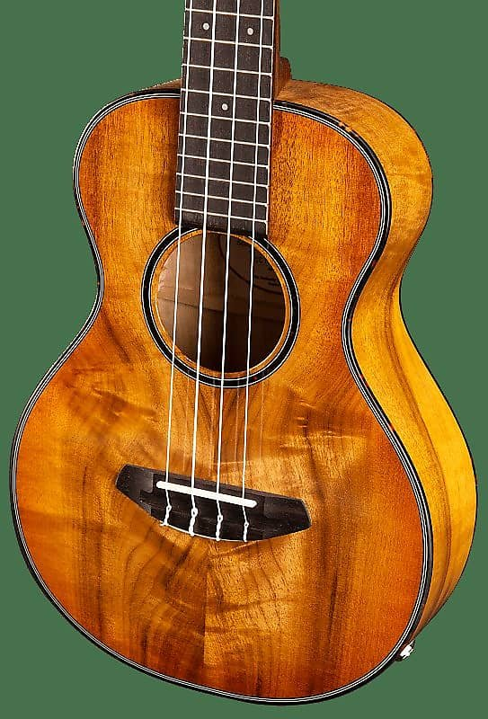 Breedlove Lu'au Series Tenor Ukulele Natural Shadow E Myrtlewood-Myrlewood