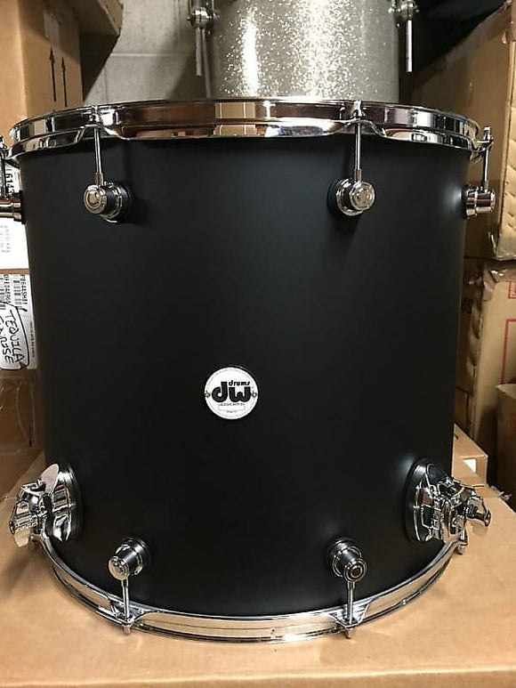 DW Drum Workshop Design Series 16x18  Black Satin Floor Tom