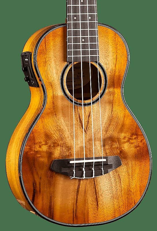 Breedlove Lu'au Series Concert Ukulele Natural Shadow E Myrtlewood-Myrtlewood