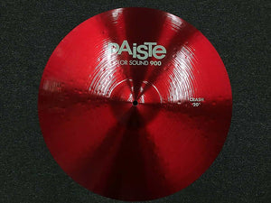 "Paiste 20"" Color Sound 900 Red Crash Cymbal w/ FREE Paiste T-Shirt"