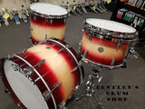 Gretsch 13/16/22 Broadkaster Drum Kit Set in Rosewood to Natural High Gloss Burst Finish