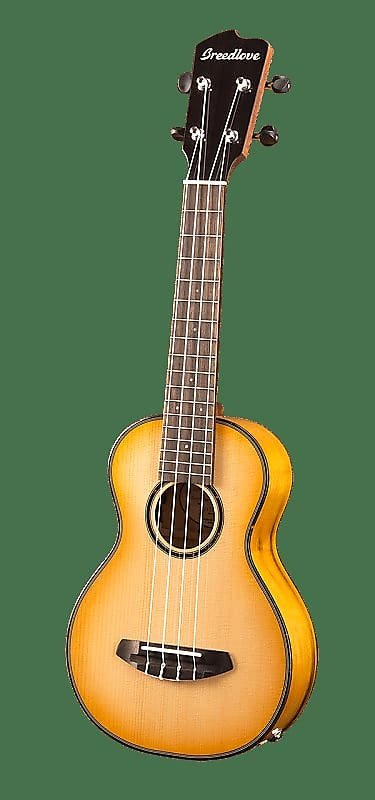 Breedlove Lu'au Series Concert Ukulele Natural Shadow E Sitka-Myrtlewood