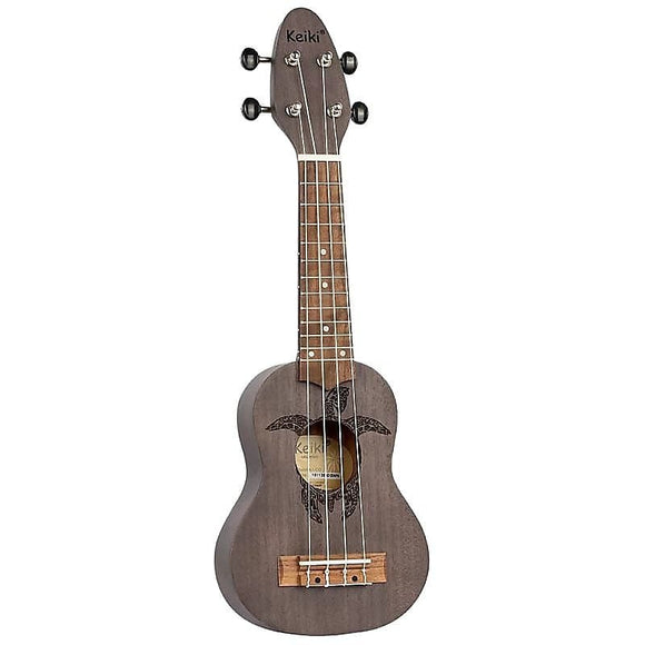 Ortega Guitars K1-CO Keiki Sopranino Ukulele in Coal