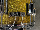 "Rogers 6.5x14"" Dyna-Sonic Custom Built Maple Snare Drum in Gold Sparkle Lacquer w/ Beaver Tail Lugs"