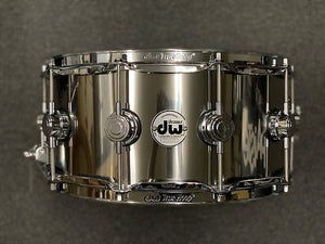 "DW DRVL6514SPC 6.5x14"" Collector's Series Stainless Steel Snare Drum"