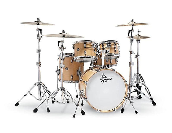 Gretsch 10/12/14 Snare/14/20 Renown Drum Set in Gloss Natural Finish RN2-E605-GN