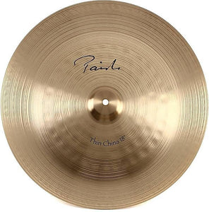 "Paiste 18"" Signature Classic Thin China Cymbal w/ FREE Paiste T-Shirt"