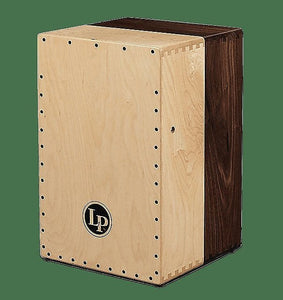LP LP1422 Americana Solid Black Walnut & Solid Maple 2-Voice Cajon