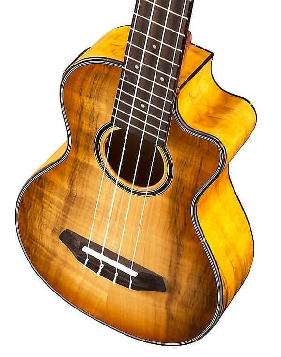 Breedlove Lu'au Series Concert Ukulele Natural Shadow CE Myrtlewood-Myrtlewood