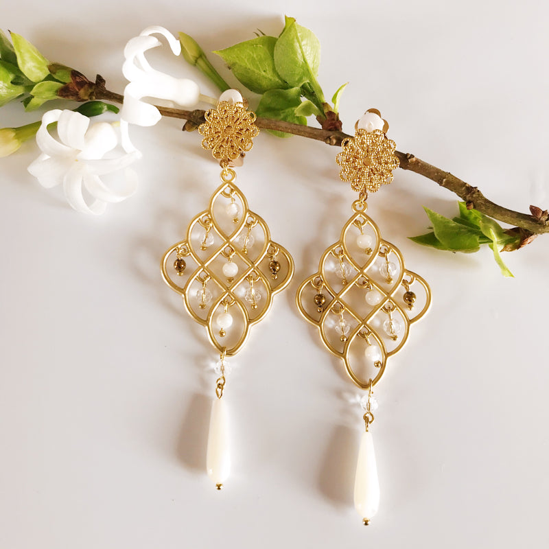 Boucles Lucia blanc