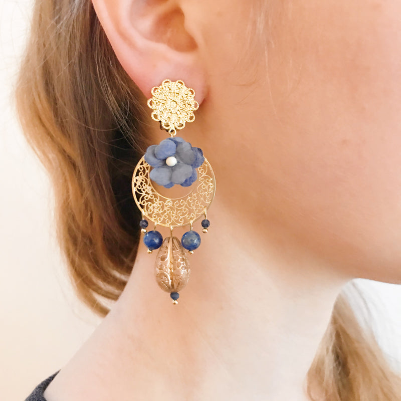 Boucles Bridgerton bleu