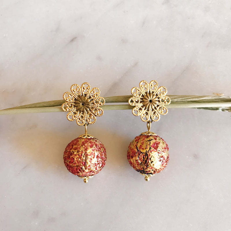 Boucles Murano or rose