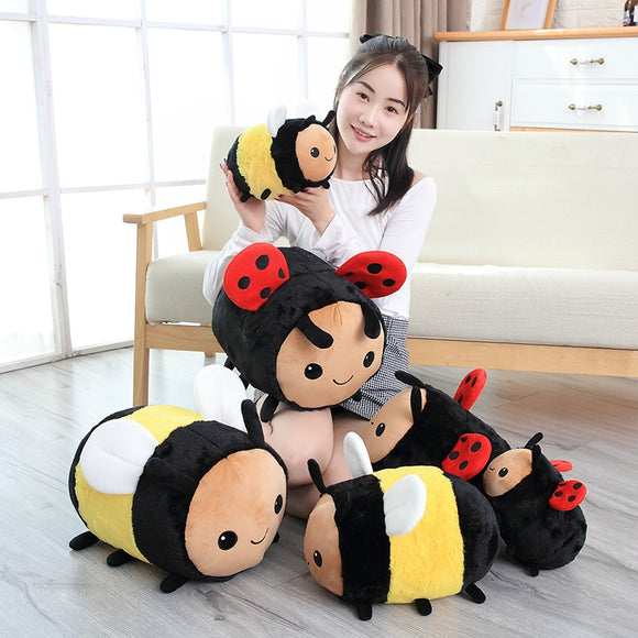 New Plush Bee or Ladybug Baby Plush Toys Pillow
