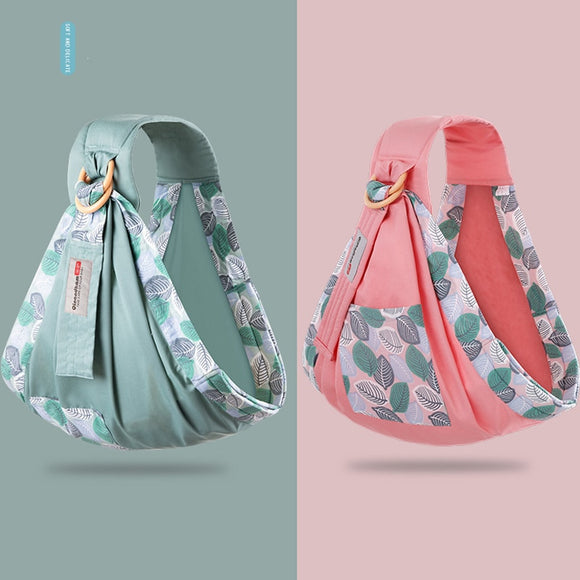 Baby Wrap Carrier Newborn Sling Dual Use Infant Nursing Cover Carriers Mesh Fabric Breastfeeding Carriers Up to 130 lbs Nursery