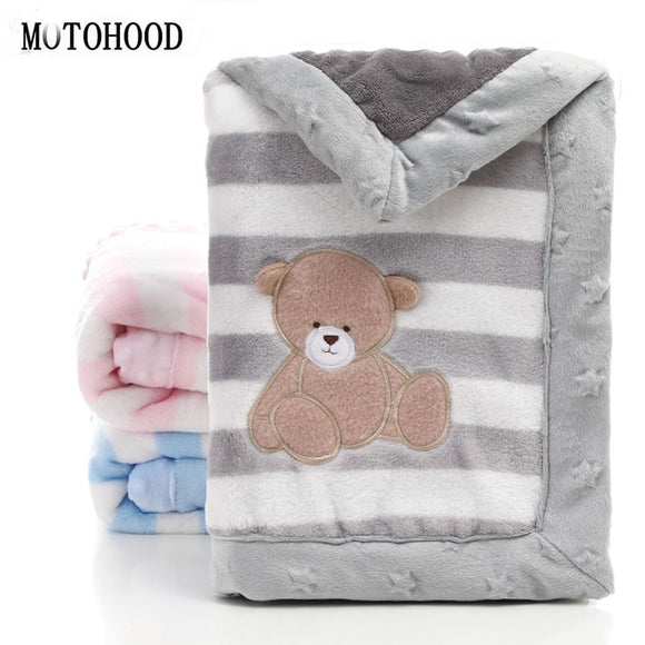 Fleece Baby Blanket Swaddling Newborn Thermal Soft Fleece Cotton Quilt Infant