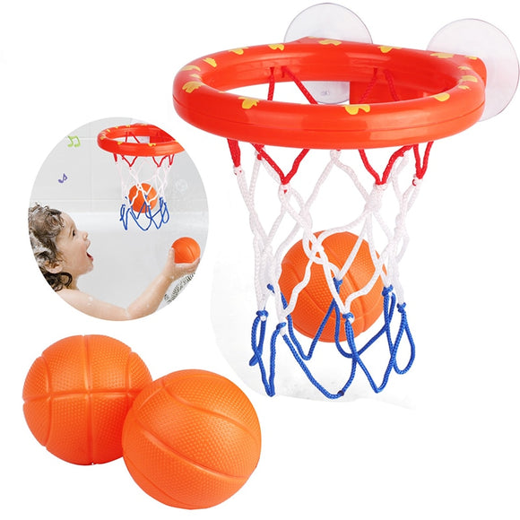 Baby Bath Toys Suction Cup Shooting Basketball Hoop With 3 Balls Bathtub Shower Toy For Kids