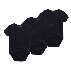 Basic Black 3PCS Baby Clothes BodysuIts Onesies