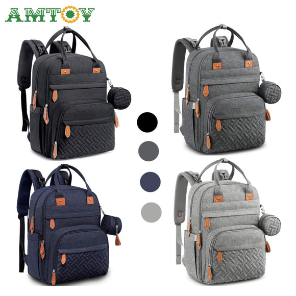 Diaper Bag Backpack Baby Nappy Changing Bags Multifunction Waterproof Travel Back  Pack with Changing Pad & Straps