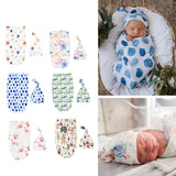 Newborn Swaddle Blankets Baby Sleeping Bag with Hat
