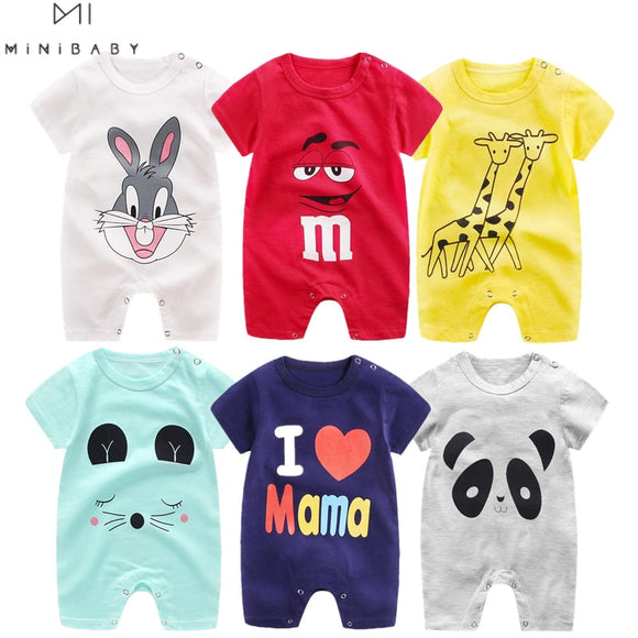 Adorable New Cotton Baby Rompers Short Sleeve Baby Clothing One Piece Summer Unisex Boy/Girl