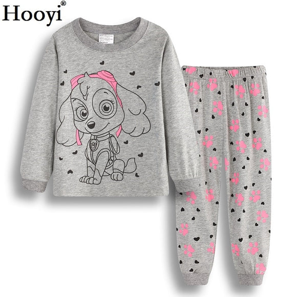 Girls Pajamas Outfits Childrens Clothes Sets Girl Clothes Shirts & Pant Sleepwear 100% Cotton