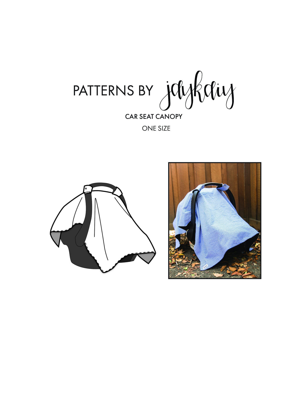 Infant Carrier/Car Seat Canopy Pattern, Car Seat Cover Pattern