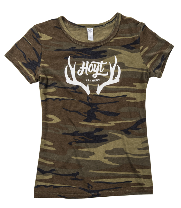 HOYT LADIES CAMO RACK T-SHIRT