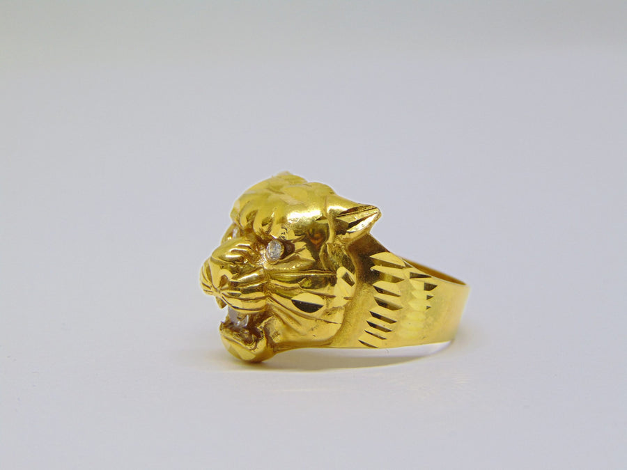 Panther ring 168 - 18 karaat