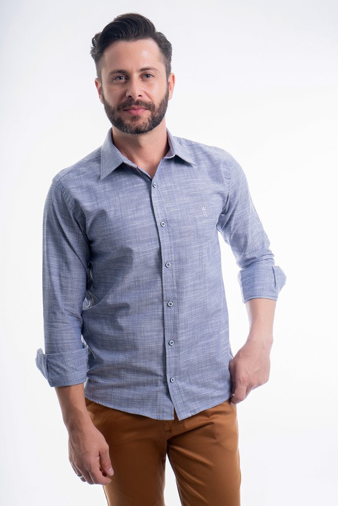 CAMISA SLIM FIT CHAMBRAY M/L