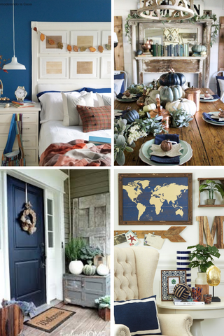 Navy decor, fall decor