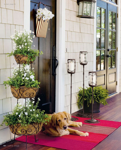 planter, tiered planter, porch and patio, summer style