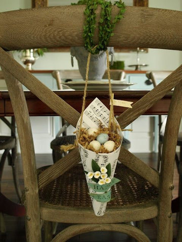 easter decor, table linen