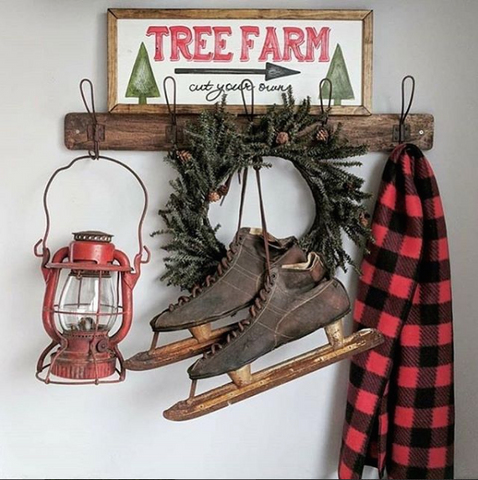 vintage farmhouse, vintage christmas, holiday decor, farmhouse christmas