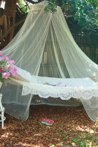 ... Scents Of Your Garden. Choose A Linen And Lace Style Hammock For The  Perfect Touch Of Rustic Romance. And Add Draped Netting For Functionality  (keep The ...