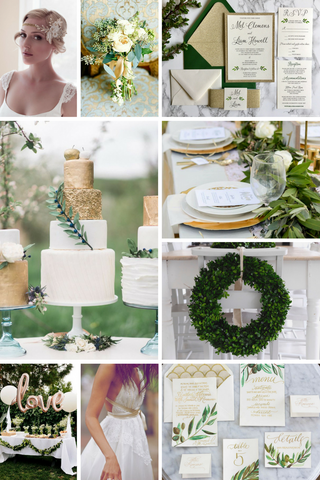 wedding linens, wedding colour combination, boxwood wreaths