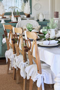 Linen Slip Covers for Dining chairs - Custom Sizes/Colours - Linen