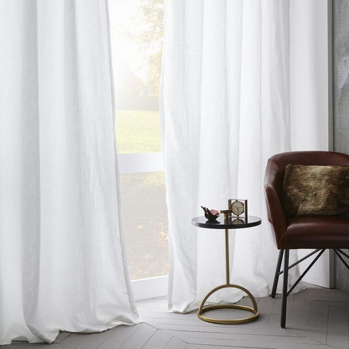 Washed Linen Drapes - Made to Measure.Plain with Rod Pocket - Linen