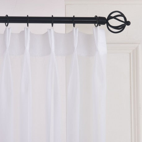 Washed Linen Drapes - Made to Measure. Pinch Pleat - Linen