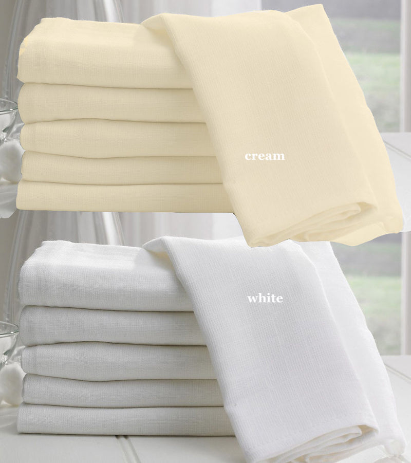 Cotton Muslin Cafe Curtains - Sheer, PINCH PLEAT - Made to Measure - Linen