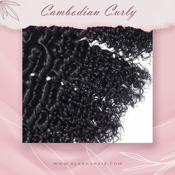 Raw Cambodian Curly Hair Bundles
