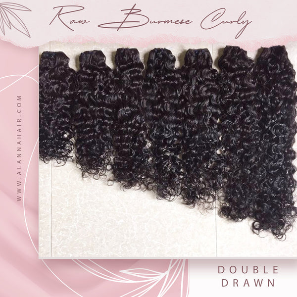 Raw Burmese Curly Hair Bundles