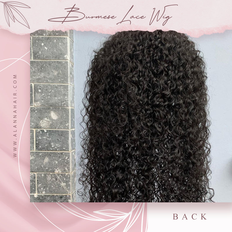 Raw Burmese Curly Full Lace Wig