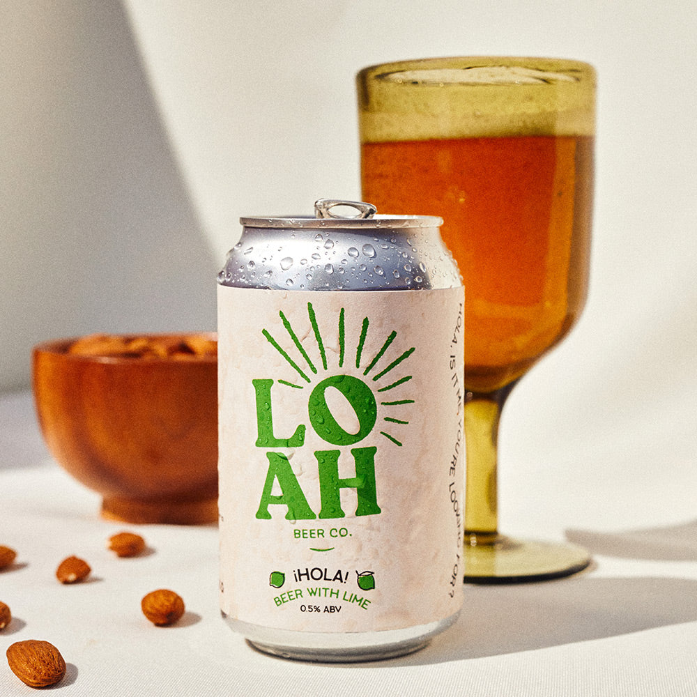 Serving suggestion for Loah alcohol-free beer