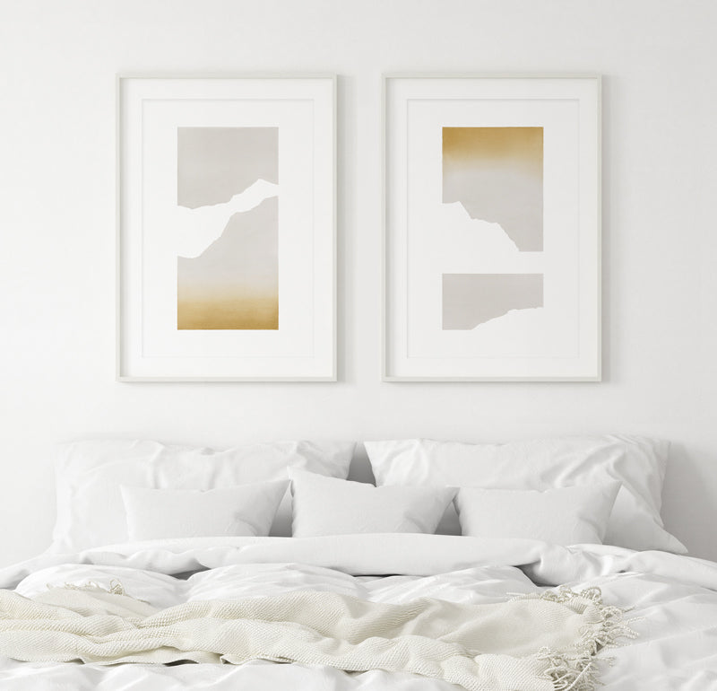 """""""Sunset #4"""" and """"Sunset #6"""""""" Art by Kim Knoll"""