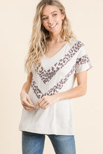 Load image into Gallery viewer, Oatmeal & Chevron Leopard Top