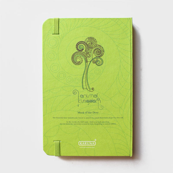 Deer Green Rubberband Noteboook