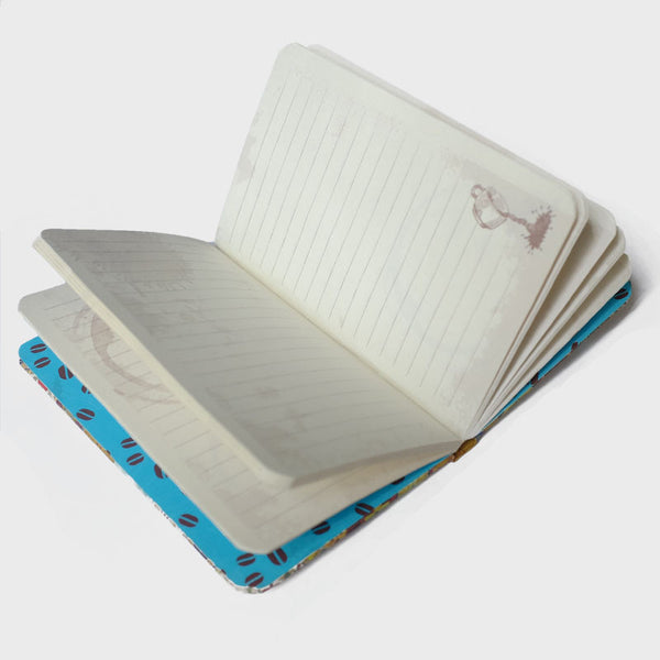 Turquoise Tile Rubberband Notebook